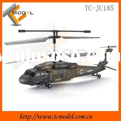 TC-JU81 3-channel radio control simulation army helicopter toy with gyro and light