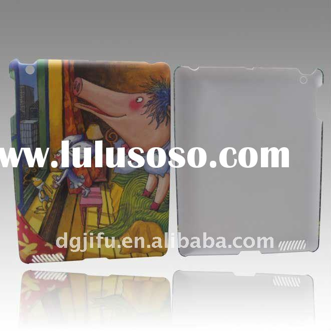 Water transfer printing and Rubber-coating PC case fits for ipad2