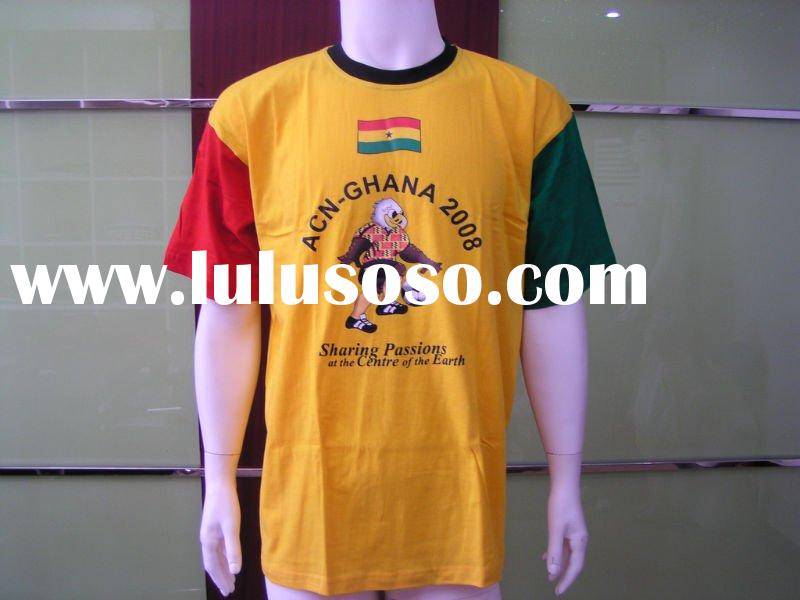 Wholesale custom 50 cotton 50 polyester t shirts with nostalgic style pattern for men