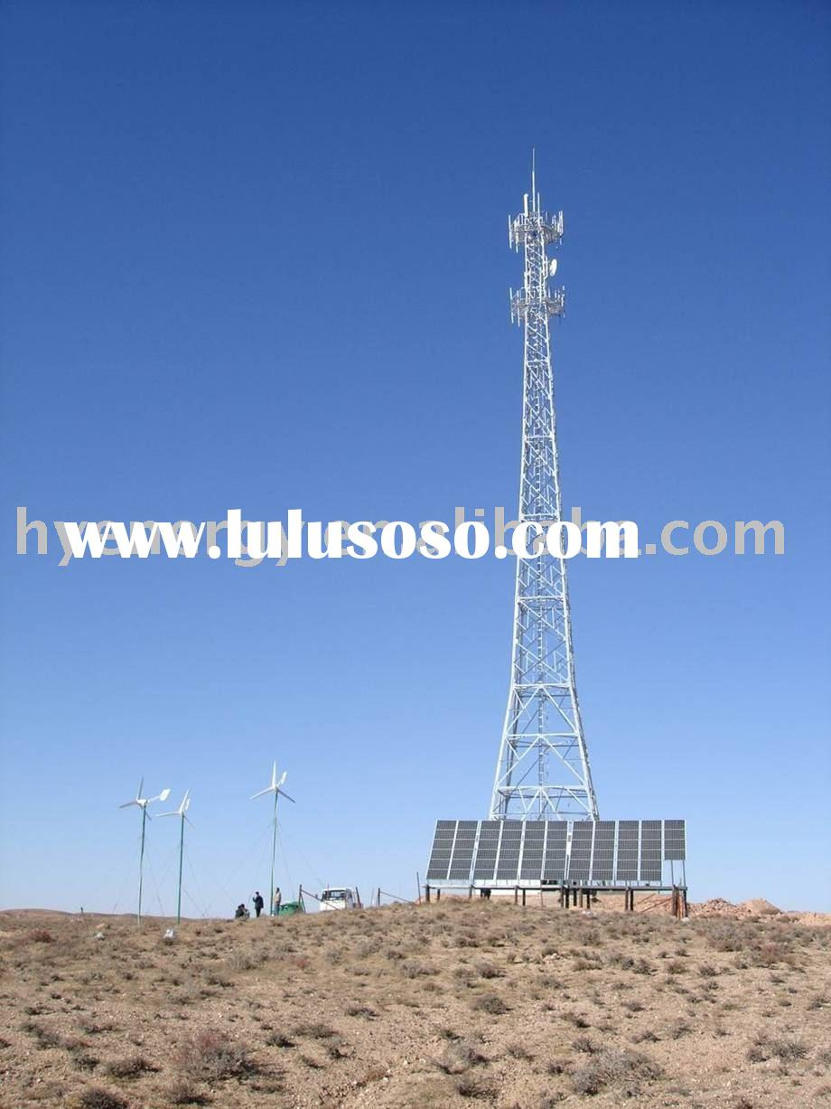 Wind and solar hybrid system for telecom base station