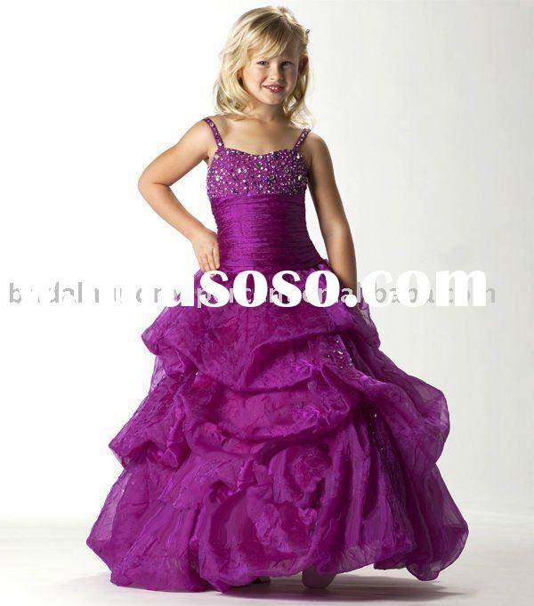 ball gown newest style pageant girl's gown dress