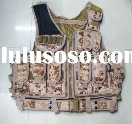 digital camo military body armor safety vest