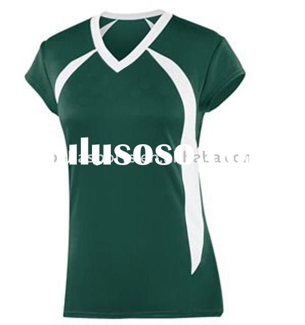 green sports jerseys with white v neck,volleyball uniform girls