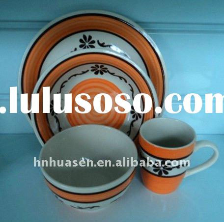 handpainted dinner set,colorful dinnerware sets,porcelain dinnerware set