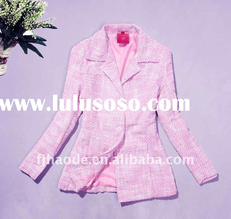 ladies fashion formal jacket,ladies pink leather jacket,women long sleeve leather jacket