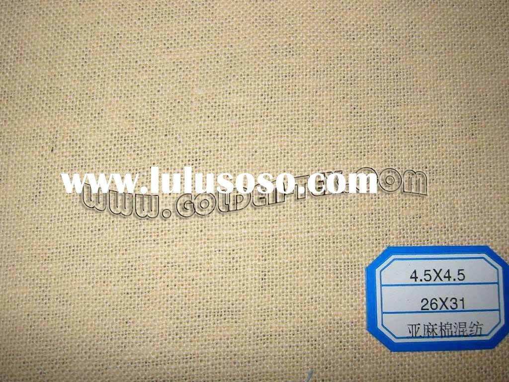 linen cotton blend fabric--solid dyed