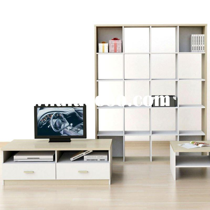 living room furniture set with tv cabinet and wooden divider