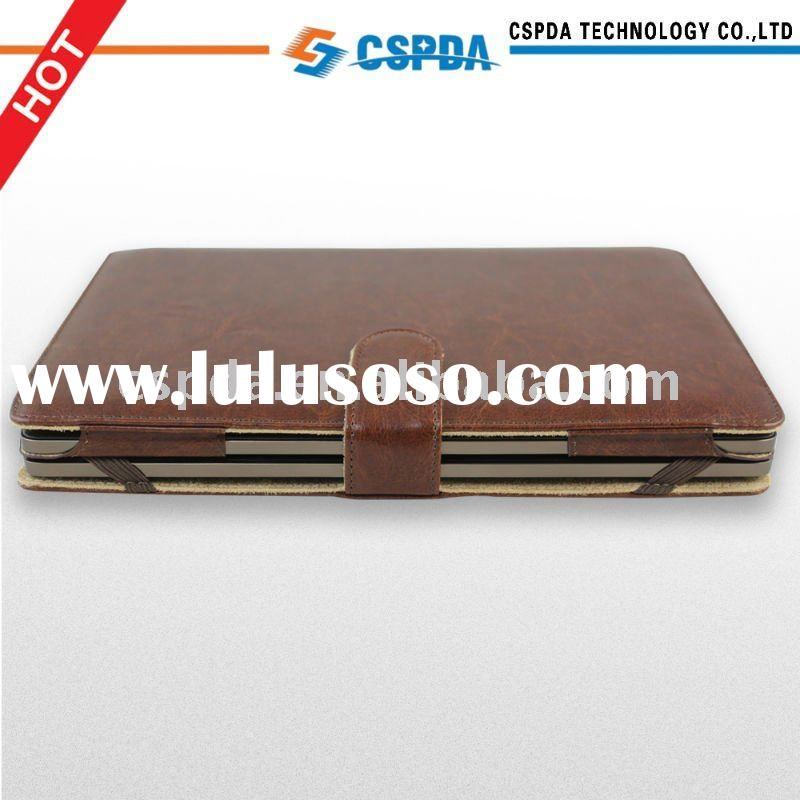 new arrival brown leather keyboard protective Case Cover for Asus Eee Pad 10.1 TF101