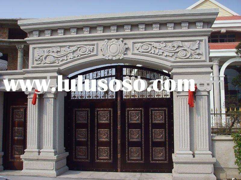 2011 newest handmade wrought iron house gate designs(I-G-0025)
