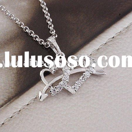 platinum Fall in love pendant/arrow wear heart pendant necklace