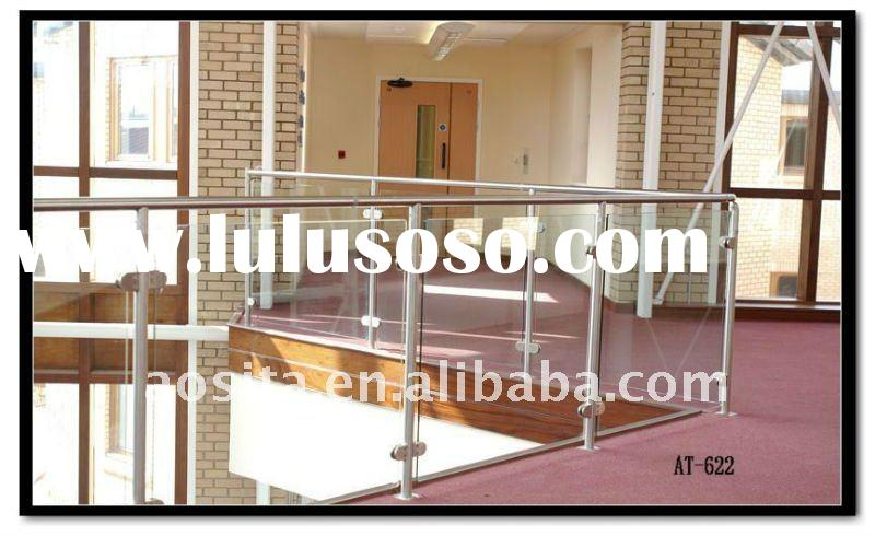 polish stainless steel indoor glass balcony rail