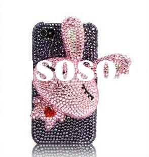 rhinestone pearl diamond crystal case cover for iphone 4 4G