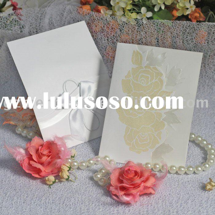 royal wedding invitation cards with beautiful peonv-- T130