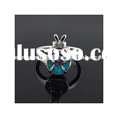 sea style cheap wholsale high quality 925 sterling silver opal ring