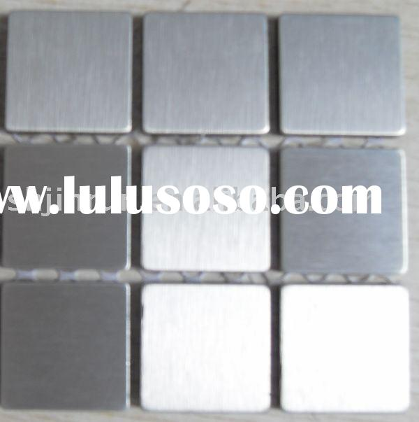 stainless steel mosaic tile metal wall tile