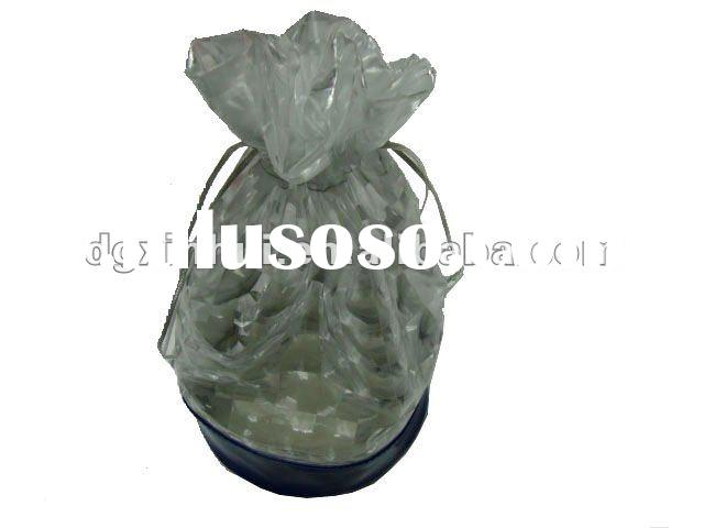 transparent cosmetic bag with drawstring