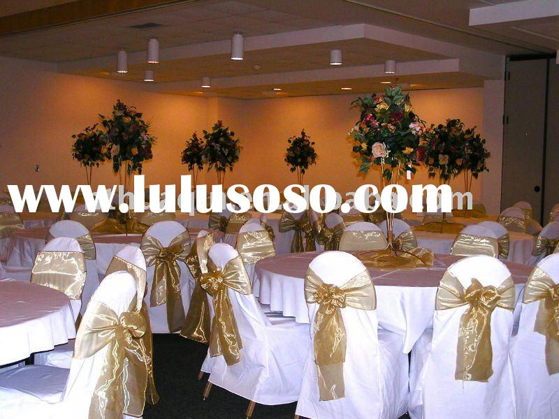 white polyester chair covers for wedding and banquet