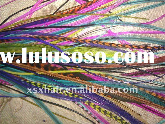 wholesale grizzly rooster feather hair extensions