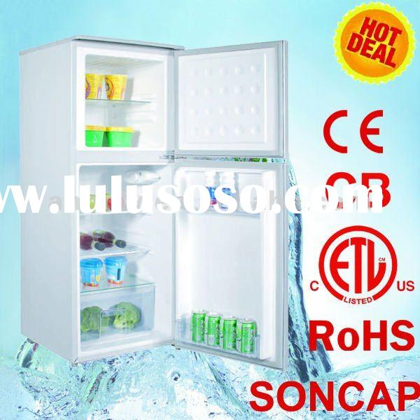 138L compact Double door Refrigerator/Freezer/Fridge