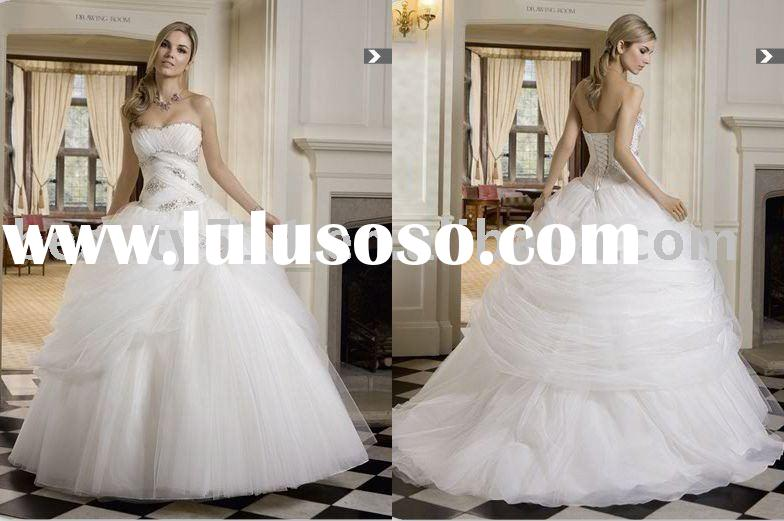 2011 New Style Unique Lace Bridal Dress Wedding Gown CAC1044