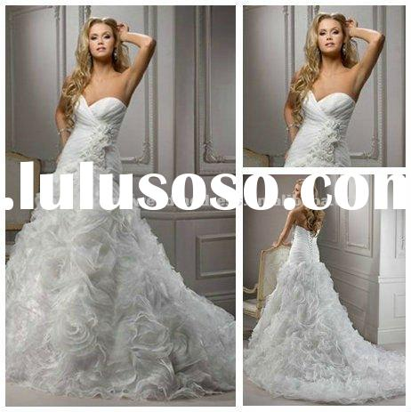 2012 New Design Wedding Dresses A Line Bridal Gowns