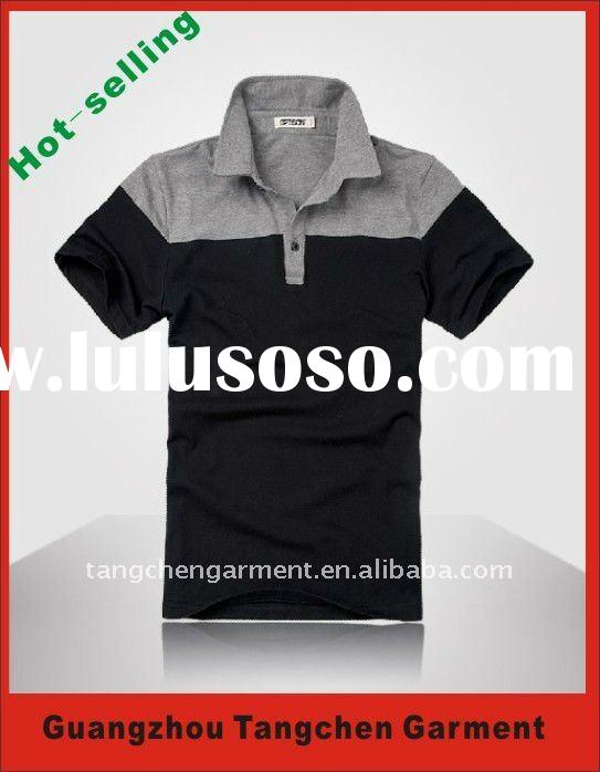 2012 hot selling man cotton short sleeve polo t-shirt