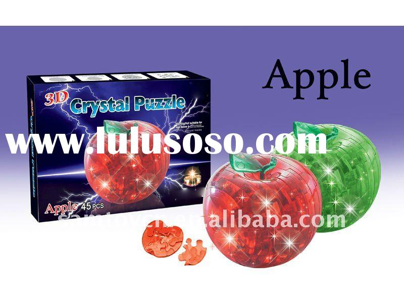 45pcs 3D Apple crystal puzzle SM121408