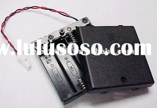 4AA battery holder & plastic case box with Cover ,Switch and wire leads