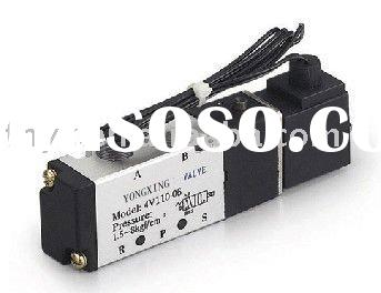 "5 Way 2 Pos Lead Wire Coil Inner Pilot Pneumatic Mini Solenoid Air Valve 4V110-06 DC24V G1/8"" 1"
