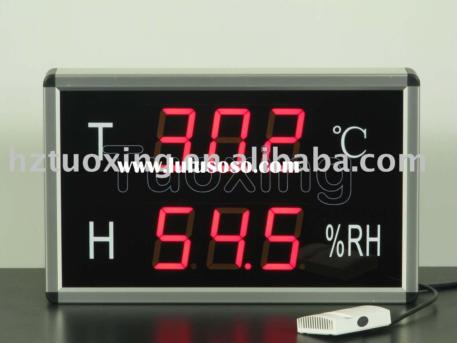6 digit 3 inch led large temperature humidity display