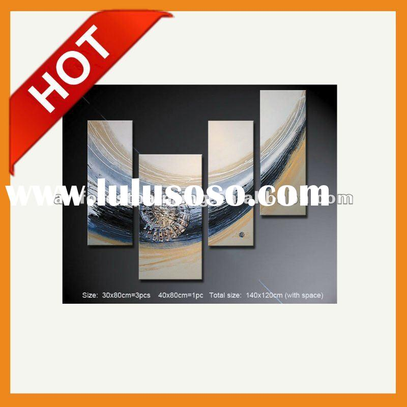Abstract Wall Art Decoration Oil Painting Canvas with stretchers 4 pieces as a set