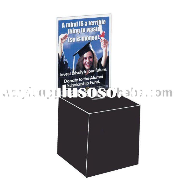 Acrylic Ballot/Entry Box With Key Lock