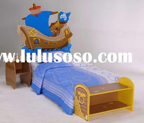 Boy's room corsair bed.Kid's bed ,Children furniture. Children wood bed.