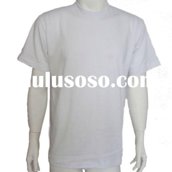 Bulk plain white t shirts sample