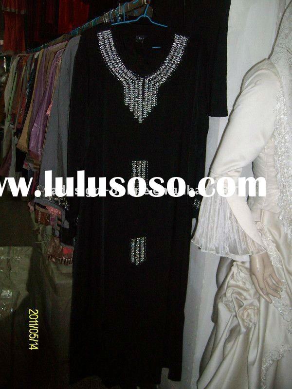 C188 Fashion muslim abaya dress;islamic clothing 2011