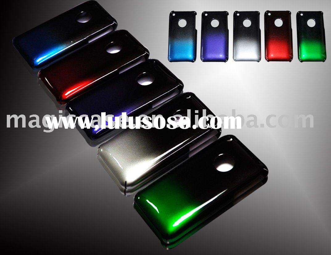 Color gradation case:Color change mobile phone case for iphone 3g(s)