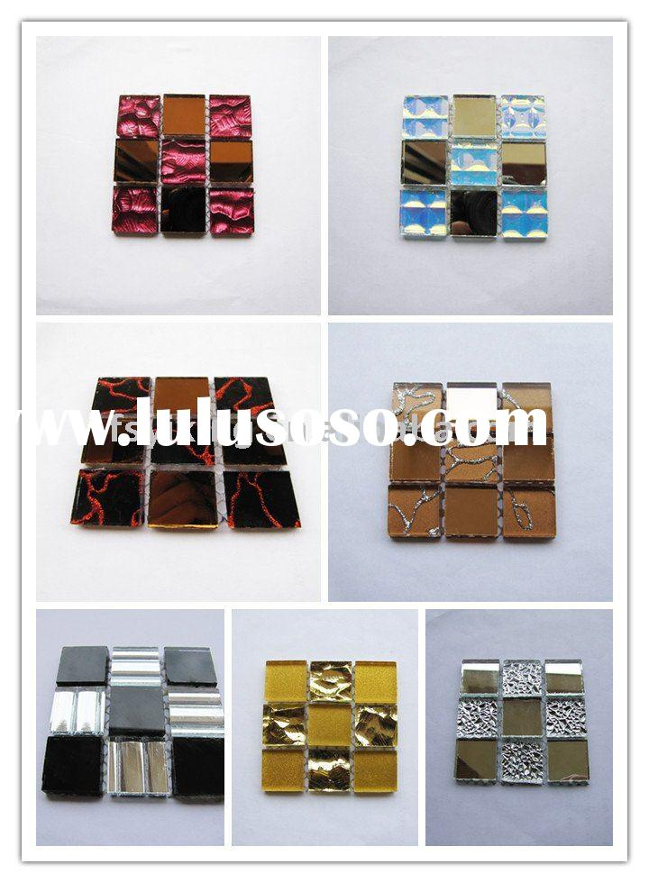 Decorative Mirror Glass Mosaic for Interior Wall Decoration, Crystal Mosaic Tile, Pattern