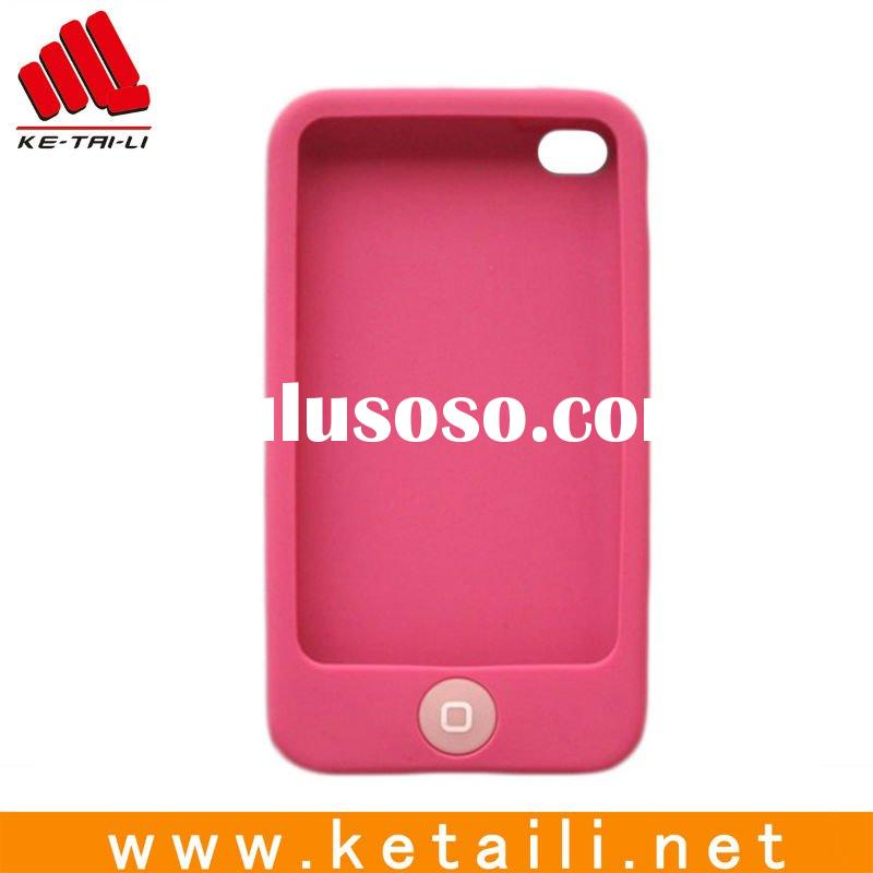 Fashion 1 color screen silicone mobile phone cover for iphone cover