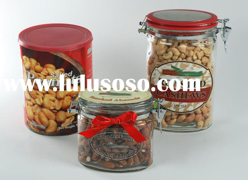 Flavored nuts in containers Food processing