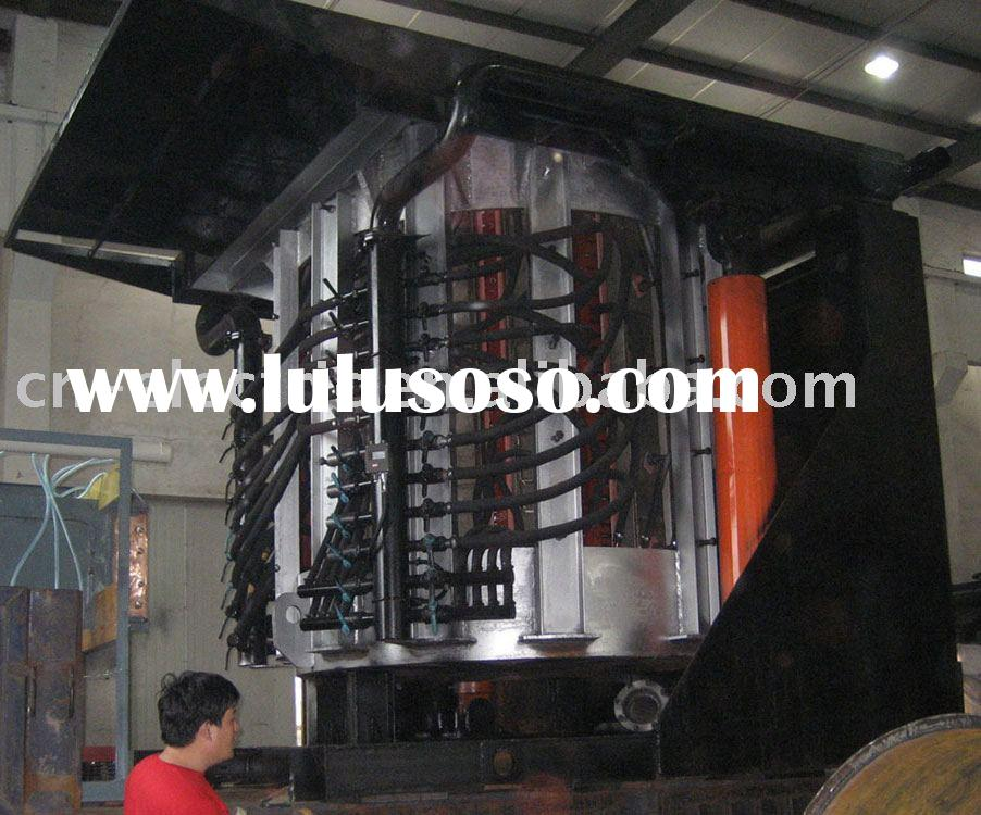 GWG-J Type Coreless Medium Frequency Melting Induction Furnace (steel shell hydraulic tilt melting i