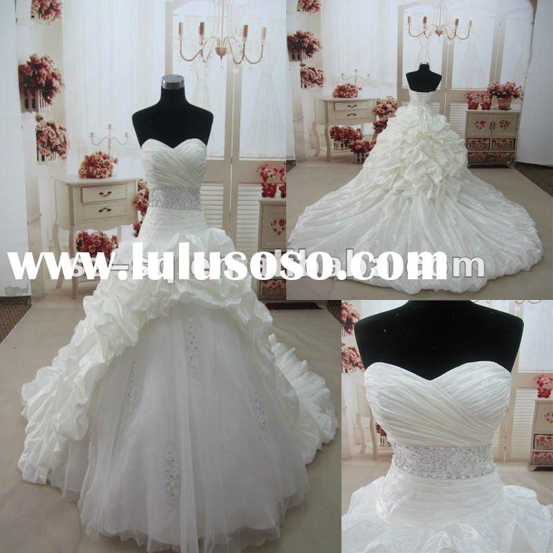 H01079 Real Ivory Ball Gown Beadings Wedding Dresses 2012
