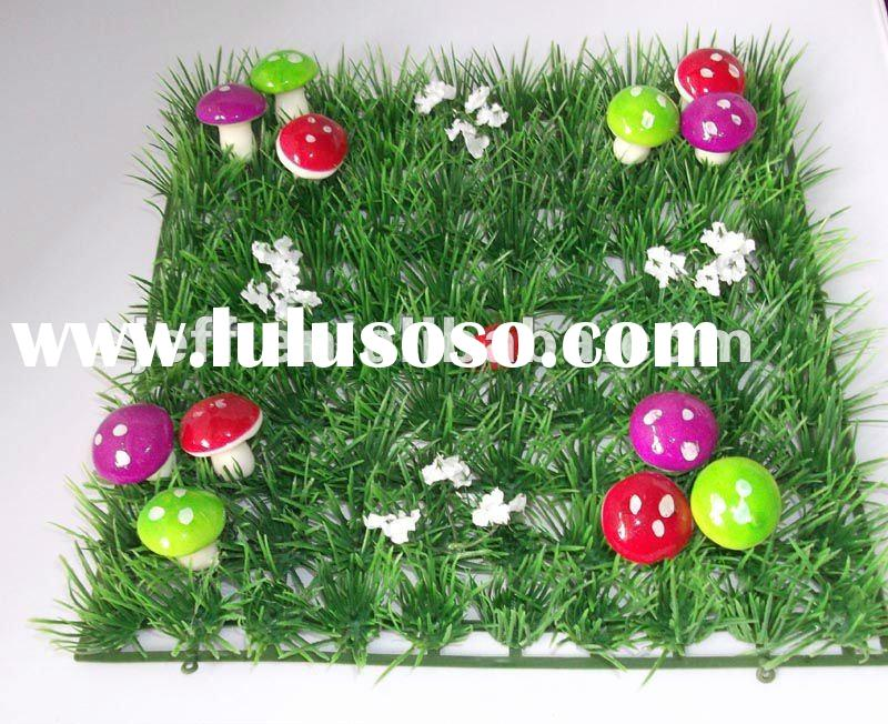 HOT SALE artificial decorative grass mat with mushroom and ladybug home party wedding decoration tab