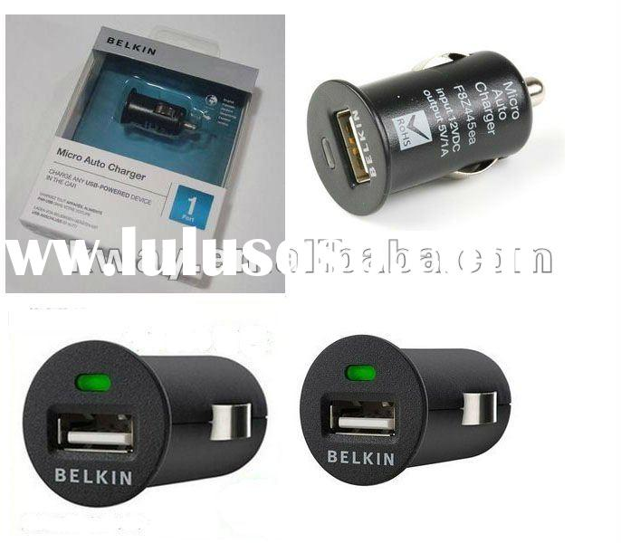 HOT! Wholesale Belkin USB Car Charger for Apple ipad iphone with individual package KCH007