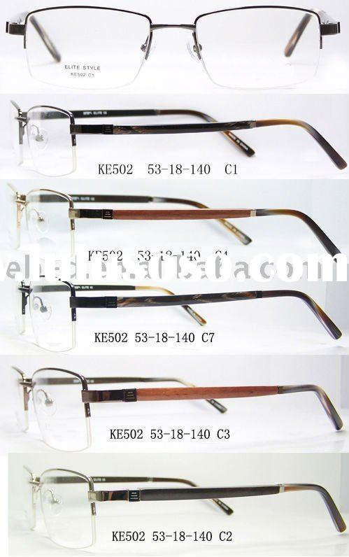 High quality men eyewear frame stock with low price(wood temple)