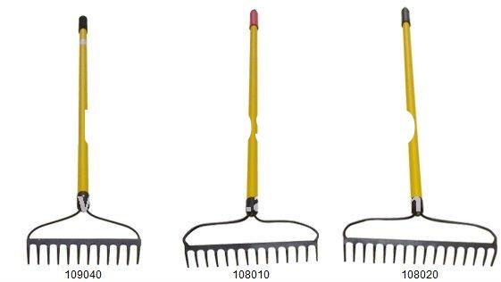 Hoe Rake with Stainless Steel Hollow Glass Fiber Handle