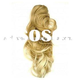 Long Claw Clip Curled Ponytail - Blonde Mix