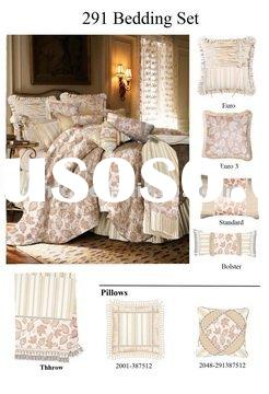 Luxury satin silk bedding set, jacquard bedding set, home textile