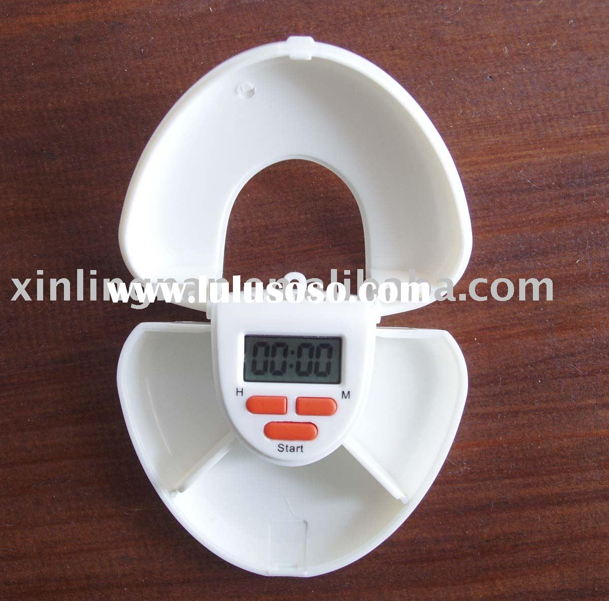 Pill box with time reminder,pillbox holder,Pill dispenser