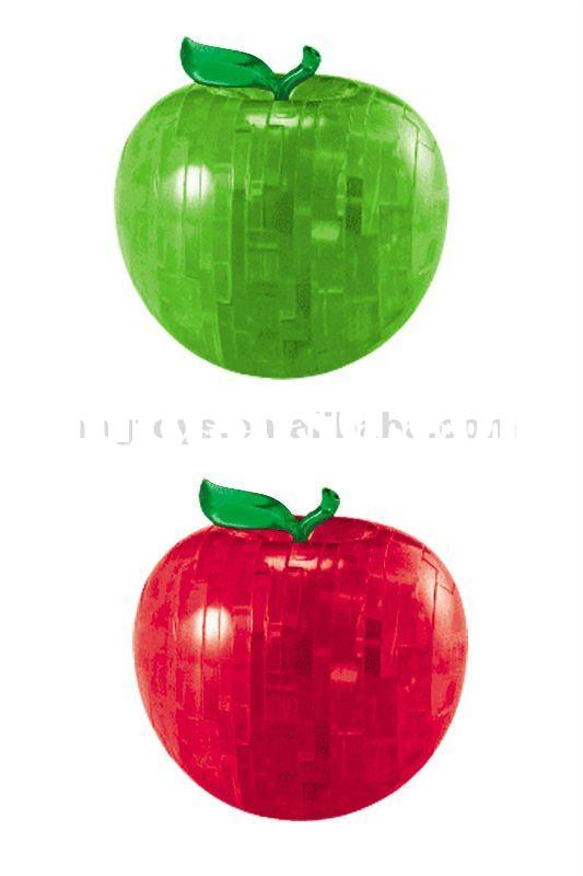 Promotional Product crystal apple puzzle 3d