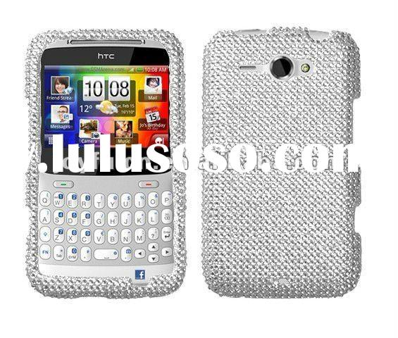 Silver Diamante Snap-on Hard Case Cover(Diamante 2.0) For HTC Status/Chacha